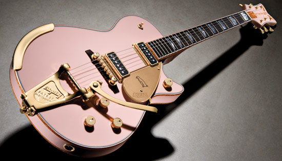 Pink Penguin with Bigsby tremolo Gretsch Custom Shop guitar