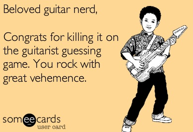 Guess That Guitarists Answers are UP!