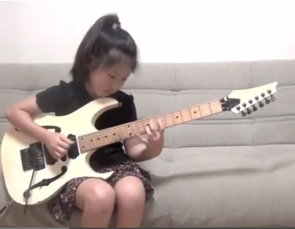 Video: 8-Year-Old Japanese Girl Shreds to Guthrie Govan's 'Fives'