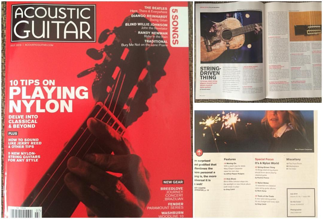 My Piece Is on the Front Cover of Acoustic Guitar Magazine