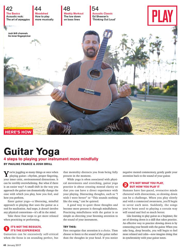Yoga of Guitar in Acoustic Guitar Magazine