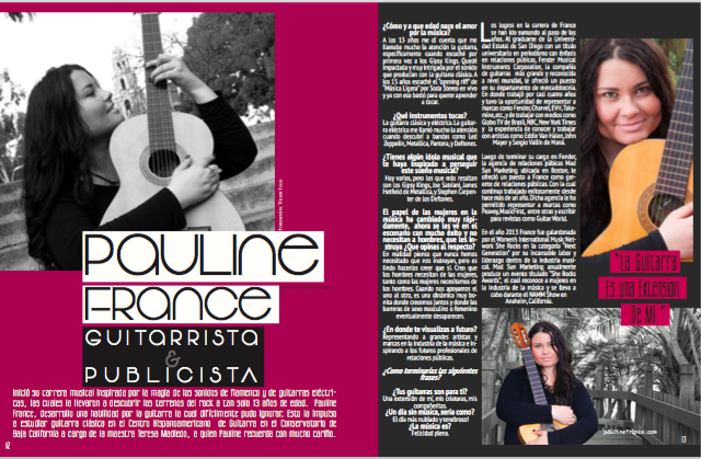 """Una Guitarrista Prodigiosa"" – Check Out my Interview in Visión Magazine"