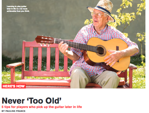 Reasons Why You're Not 'Too Old' to Play Guitar